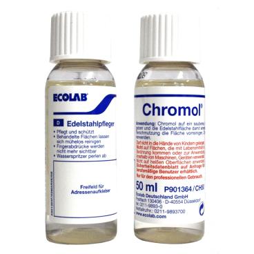 ECOLAB Chromol Edelstahlpflege 50 ml - Flasche (1 Karton = 15 Flaschen)