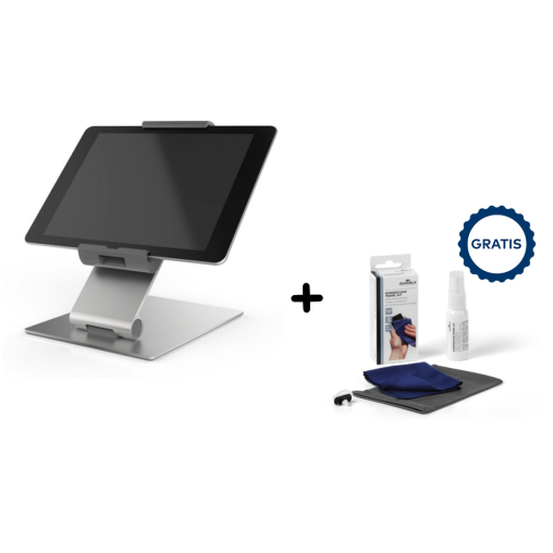 DURABLE Table Tablet Tischhalterung + Screenclean Travel Kit