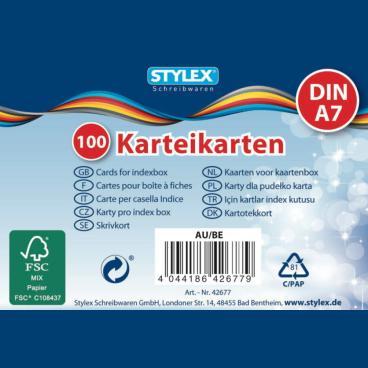 STYLEX® Karteikarten, A7