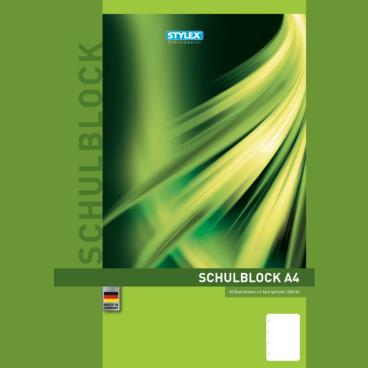 STYLEX® Schulblock, A4, blanko