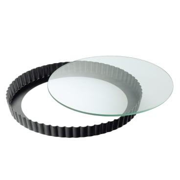 Kaiser Crystal Quicheform mit Glashebeboden, Ø 28 cm