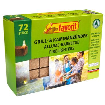 Favorit Grill- und Kaminanzünder 1 Packung = 72 Stück