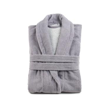 Gözze Turin Soft Bademantel mit Schalkragen, silber