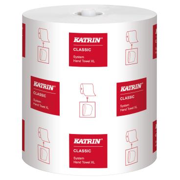 KATRIN Classic System towel XL Papierhandtuch, weiß 1 Paket = 6 Rollen
