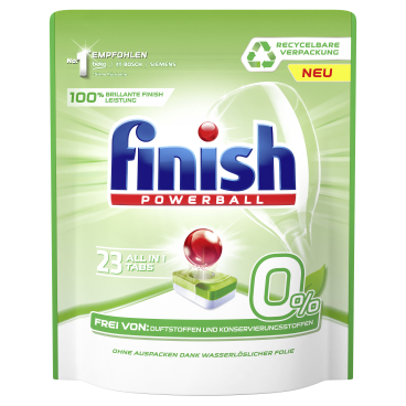 Finish 0% Spülmaschinentabs