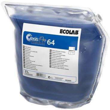 ECOLAB Oasis Pro 64 Premium WC-Reiniger 2 l - Beutel (1 Karton = 2 Beutel)