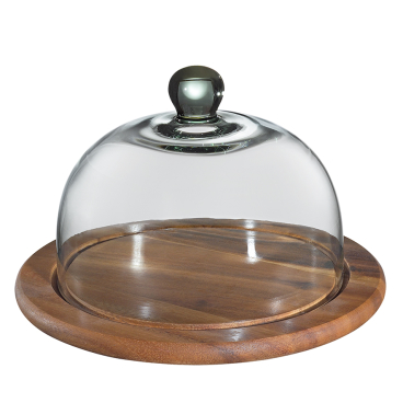Zassenhaus Akazie Käseglocke mit Glasdeckel