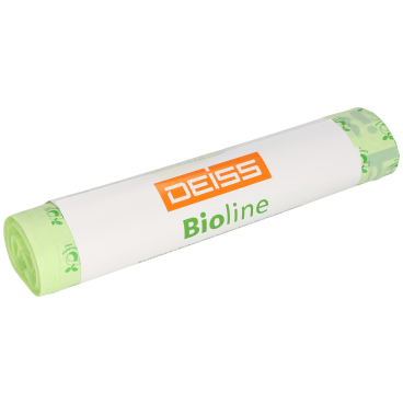 DEISS Bioline Bioabfallsäcke, 200 Liter 1 Karton = 20 Rollen = 100 Säcke