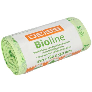 DEISS Bioline Bioabfallbeutel, 10 Liter 1 Karton = 24 Rollen = 480 Beutel