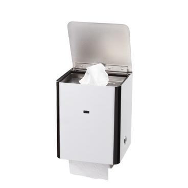 Toicube M Feuchttuchspender, mit WC-Rollenhalter Edelstahl poliert