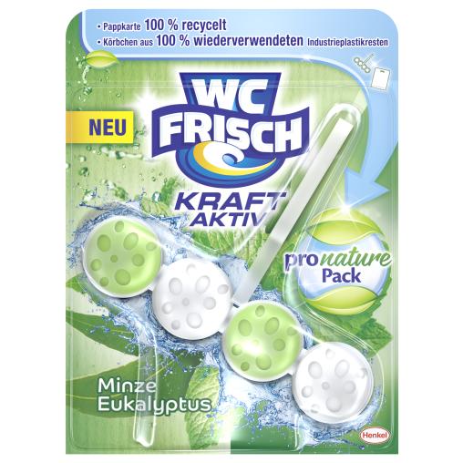WC Frisch Kraft-Aktiv Pro Nature Minze & Eukalyptus Duftspüler