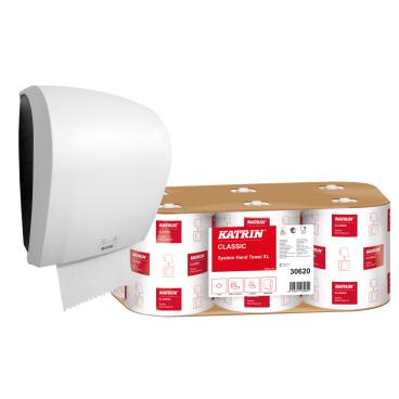 KATRIN Aktionsset Handtuchrollenspender + Handtuchpapierrolle