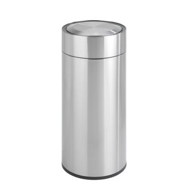 WENKO Sensor Abfalleimer, Edelstahl, matt, 30 Liter