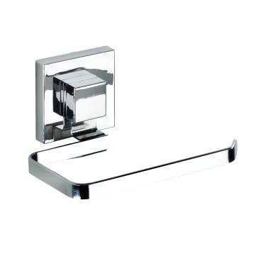 WENKO Quadro Vacuum-Loc Toilettenpapierhalter, Edelstahl
