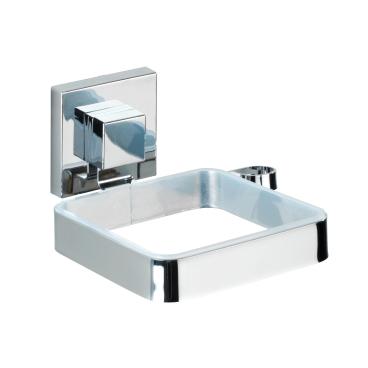 WENKO Quadro Vacuum-Loc Haartrocknerhalter, Edelstahl