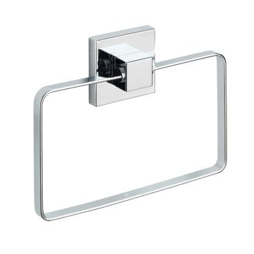 WENKO Quadro Vacuum-Loc Handtuchring, Edelstahl