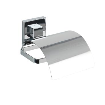 WENKO Vacuum-Loc Cover Quadro Toilettenpapierhalter, Edelstahl