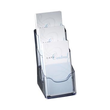 Sigel Tisch-Prospekthalter acrylic, mit 3 Fächern