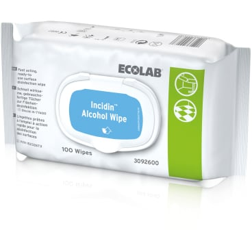 ECOLAB Incidin™ Alcohol Wipe Desinfektionstücher 1 Karton = 6 x 100 Tücher