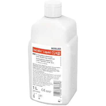 ECOLAB Incidin® Liquid Schnelldesinfektion 1 Karton = 12 x 1000 ml - Flasche