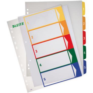 LEITZ Zahlen-Register, Kunststoff,  A4, farbiger Verlauf