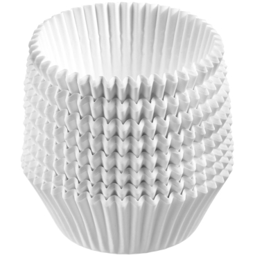 WESTMARK Muffin Papier-Backförmchen, Ø 5 cm, weiß 1 Packung = 80 Backförmchen