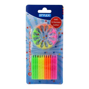 STYLEX® Geburtstagskerzen, 36-teilig