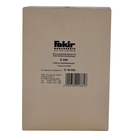 Staubsaugerbeutel für Fakir Prestige A 220/B 180,