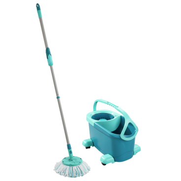 Leifheit Clean Twist Disc Mop Ergo mobile Wischset, 4-teilig