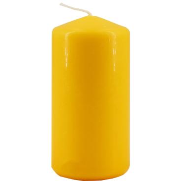 Tischkerze, gelb 1 Packung = 5 Stück, ca. 18 Stunden Brenndauer