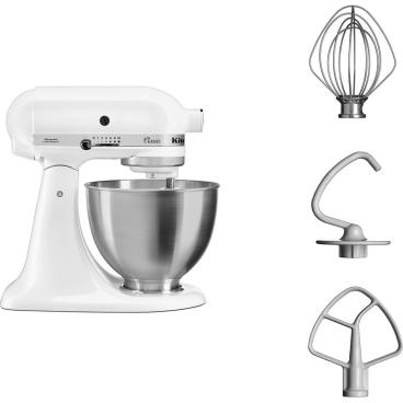 KitchenAid 5K45SSEWH Küchenmaschine Fassungsvermögen:  4,28 Liter