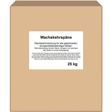 Kehrspäne 25 kg - Karton, Wachskehrspäne