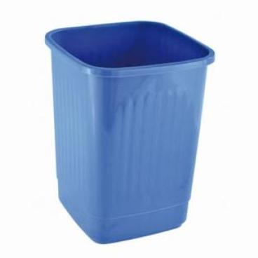 Bekaform Papierkorb, quadratisch, geschlossen Farbe: blau