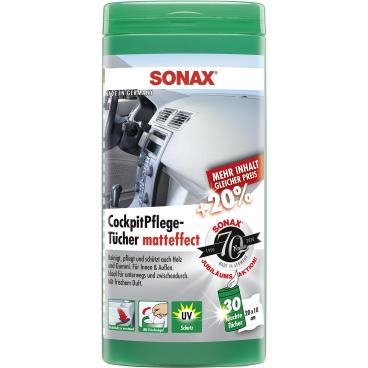 SONAX Kunststoffpflegetücher matteffect