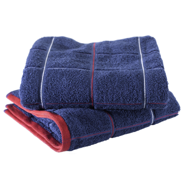 MEGA Clean Professional Maritim Baumwoll-Handtuch, 50 x 100 cm 1 Stück, Farbe: marineblau