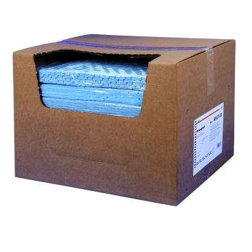 zetSorb® Ölsaugtücher, blau, 40 x 40 cm 1/2 Palette =15 Kartons = 1.500 Tücher