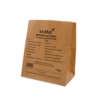 BIOMAT® Bioabfallbeutel aus Kraftpapier, 7 Liter