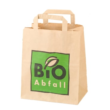 BIOMAT® Bioabfallbeutel mit Henkel aus Kraftpapier,  8 Liter