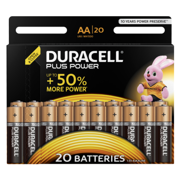 DURACELL Plus Power AA Alkaline- Batterie, 1,5 V