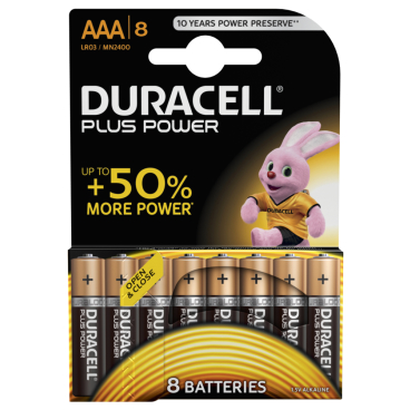 DURACELL Plus Power AAA Alkaline- Batterie, 1,5 V