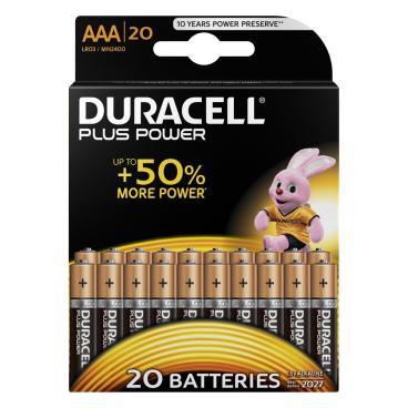 DURACELL Plus Power AAA Alkaline- Batterie, 1,5 V