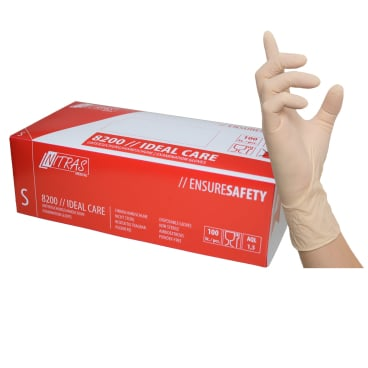NITRAS IDEAL CARE Latex Einmalhandschuhe, naturfarben