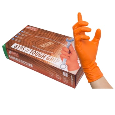 NITRAS TOUGH GRIP N Einmalhandschuhe, orange