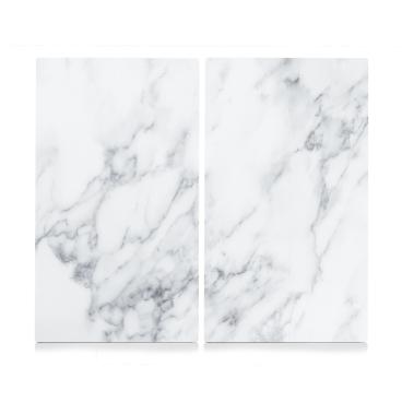 Zeller Marmor Herdabdeck-/Schneideplatten-Set, 2-teilig