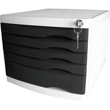 helit the safe Schubladenbox, 5 Schübe