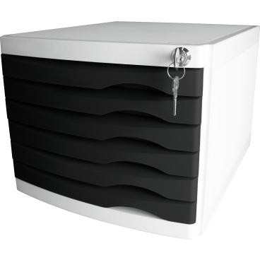 helit the safe Schubladenbox, 6 Schübe