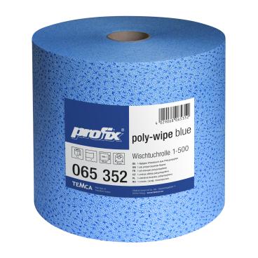 profix® poly-wipe plus Wischtuchrolle, 36 x 32 cm, blau