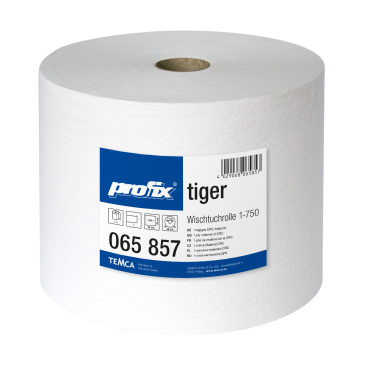profix® tiger Wischtuchrolle, 34 x 30 cm, 1-lagig, weiß