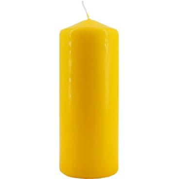 Tischkerze, gelb