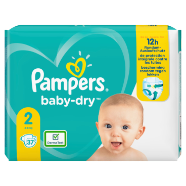 Pampers Baby Dry Mini Windeln 4-8 kg, Größe 2